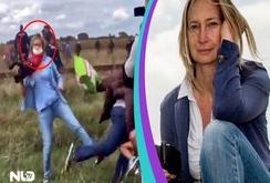 Clip nữ nhà báo Hungary ngáng chân người tị nạn và bị sa thải