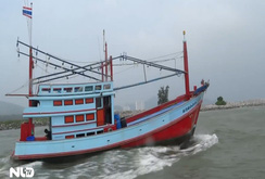 Tàu đánh cá Thái Lan khai thác trái phép trên biển Cà Mau
