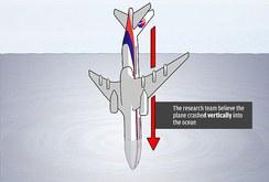 Máy bay MH370 có thể đã lao thẳng đứng xuống biển