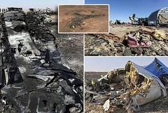 Máy bay Nga vỡ đôi trên không trung, do IS bắn hạ?