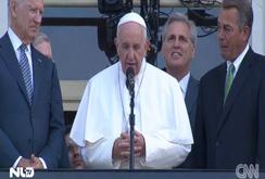 Chủ tịch Hạ viện Mỹ bật khóc khi Đức Giáo hoàng Francis phát biểu
