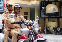 CSGT TP Thanh Hóa gắn camera trên mũ khi tuần tra