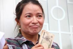 Chị ve chai đã được nhận lại số tiền 5 triệu yen