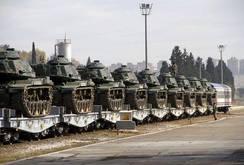 Thổ Nhĩ Kỳ điều quân, xe tăng đến biên giới Syria