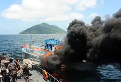 5 tàu cá của Việt Nam bị Indonesia đánh chìm