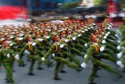 Hình ảnh diễu binh, diễu hành kỷ niệm 40 năm thống nhất đất nước