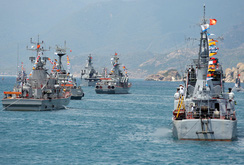 Clip duyệt binh kỷ niệm 60 năm thành lập Quân chủng Hải quân