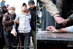 Phiến quân IS chặt tay kẻ ăn cắp giữa phố