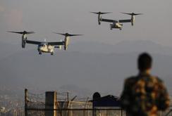 Mỹ điều động thủy quân lục chiến, máy bay đến Nepal