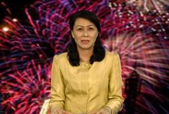 Thành ủy viên, Chủ tịch LĐLĐ TP Nguyễn Thị Thu chúc Tết