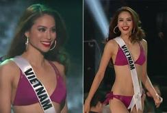 Clip: Phạm Hương trình diễn áo tắm tại Miss Universe