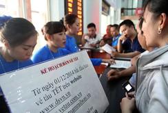 Ngày đầu bán vé tàu lửa điện tử: Khó có thể mua được vé