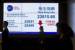 Chứng khoán Trung Quốc lao dốc, giảm mạnh nhất 8 năm