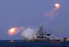 Video tàu chiến Nga phóng tên lửa tấn công IS