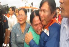 34 ngư dân trên tàu cá bị đâm chìm ở Hoàng Sa vào bờ an toàn