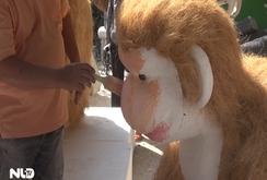 Gia đình khỉ - linh vật đường hoa Tết Bính thân TP HCM 2016