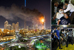 Cháy dữ dội ở khách sạn tại Dubai ngay đêm giao thừa