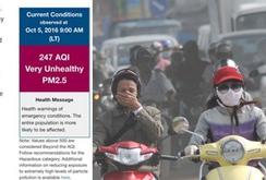 Ô nhiễm không khí Hà Nội ở mức rất xấu?
