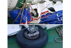 Trục vớt nhiều mảnh vỡ máy bay CASA-212