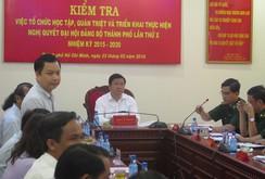 Bí thư Thành ủy Đinh La Thăng làm việc với Bộ đội Biên phòng TP HCM