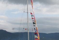 Những chiếc thuyền buồm lộng lẫy, hoành tráng cập cảng sông Hàn
