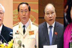 Bốn chức danh lãnh đạo chủ chốt đã xuất hiện