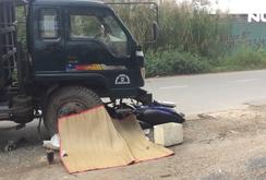 Nam công nhân bị xe ben tông gãy rời chân trên đường