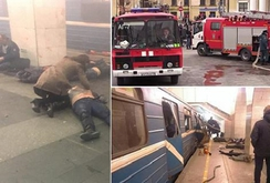 Clip: Cảnh bên trong tàu điện ngầm Nga khi bị đánh bom