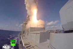 Clip: Chiến hạm Nga khai hỏa dữ dội ở Địa Trung Hải