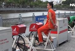 Ghi nhanh: Tiếc dàn xe đạp lọc nước bên kênh Nhiêu Lộc bị hư hỏng