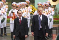 Video: Lễ đón chính thức TT Donald Trump tại Phủ Chủ tịch