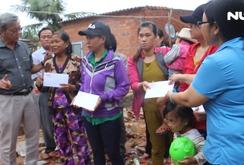 Báo NLĐ cùng nhà tài trợ hỗ trợ 1,5 tỉ đồng cho người dân vùng bão lũ