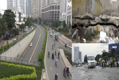 Ghi nhanh: Con đường Nguyễn Hữu Cảnh hư hỏng như thế nào?