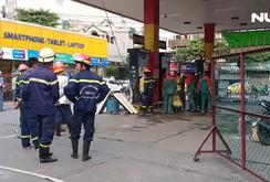 Cửa hàng xăng dầu bất ngờ phát hoả, nhiều người vứt xe bỏ chạy