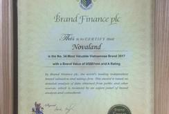 Novaland lọt vào top 50 thương hiệu giá trị nhất Việt Nam