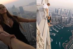 Clip gây sốc: Người mẫu Nga treo mình lơ lửng trên tòa nhà chọc trời ở Dubai