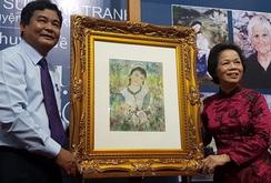 Tranh quý của họa sĩ Lê Thị Lựu trở về quê hương
