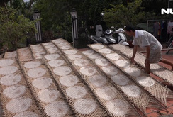 Ghi nhanh: Làng nghề bánh tráng trăm năm hối hả đón Tết