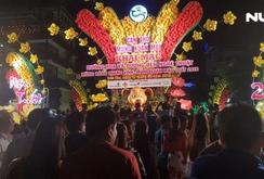 Hàng ngàn người thưởng ngoạn đường hoa nghệ thuật tại Cần Thơ