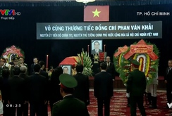 Lễ viếng nguyên Thủ tướng Phan Văn Khải tại Hội trường Thống Nhất TP HCM