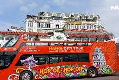 Ngắm xe buýt hai tầng đầu tiên ở Hà Nội