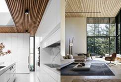 Thiết kế trần gỗ cho ngôi nhà bừng sáng
