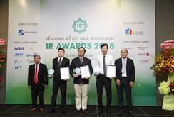 Kết quả bình chọn DN có hoạt động IR tốt nhất 2018