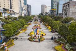 Góc nhìn Flycam: Đường hoa Nguyễn Huệ trước ngày khai mạc