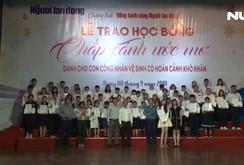 """115 em nhận học bổng """"Chắp cánh ước mơ"""" của Báo Người Lao Động"""