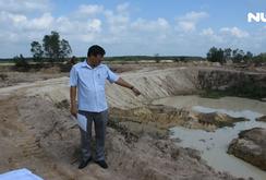 Bà Rịa - Vũng Tàu: Lợi dụng nạo vét hồ để khai thác cát