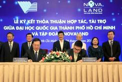 Đại học Quốc gia TP HCM tiếp nhận 10 tỉ đồng tài trợ từ Tập đoàn Novaland