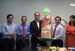Bí thư Thành ủy TP HCM Nguyễn Thiện Nhân chúc Tết Báo Người Lao Động