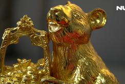 Tượng chuột mạ vàng đón Tết Canh Tý 2020