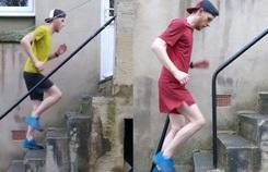 Vận động viên chạy bộ bằng nhiều cách trong lúc ở nhà cách ly